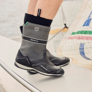 Dubarry Fastnet carbon sailing boot on deck