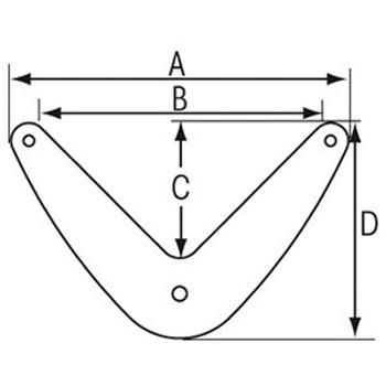 Plastimo Stern Fender - Blue - Dimension