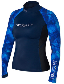 Rooster Long Sleeve rash vest - Ladies - Blue