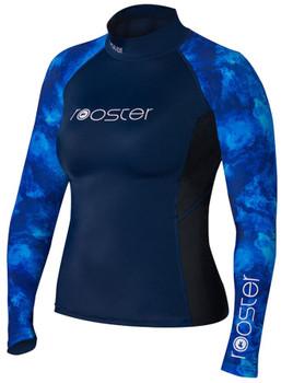 Rooster Long Sleeve rash vest - Ladies - Blue
