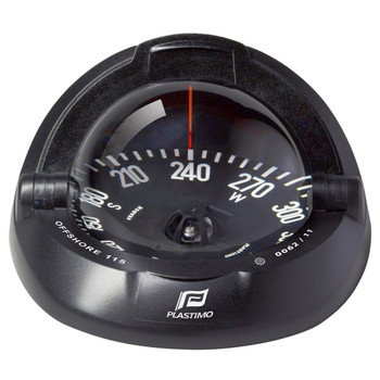 Plastimo Offshore 115 Compass - Black Flat Card - Black