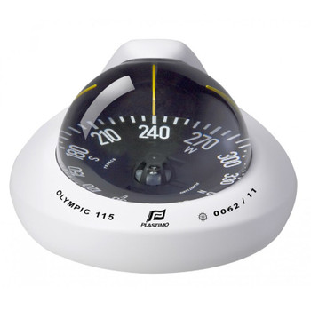 Plastimo Olympic 115 Compass - Flat Card  - White