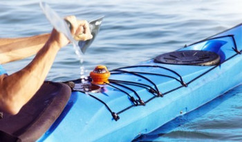 Plastimo Offshore 55 Kayak Compass - Orange - Action