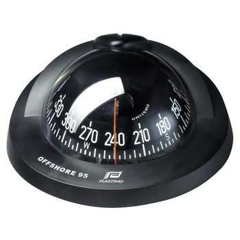 Plastimo Flushmount Black Conical Card Offshore 95 Compass - Black