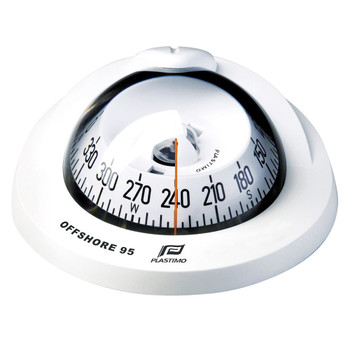 Plastimo Flushmount White Conical Card Offshore 95 Compass - White