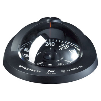 Plastimo Offshore 95 Compass - Flushmount - Black Flat Card   - Black