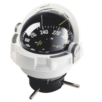 Plastimo Olympic 135 Compass - Flushmount or Pedestal - Black Card  - White