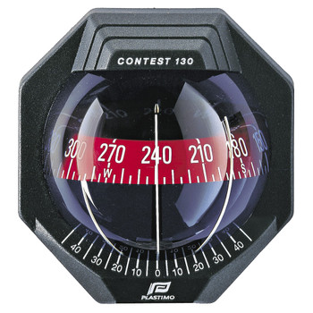 Plastimo Contest 130 Compass - Black - Vertical Red Card