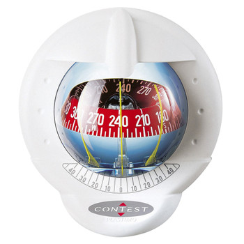 Plastimo Contest 101 Compass - White - 10-25° - Tilted Red Card