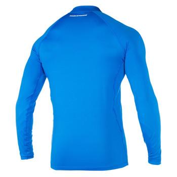 Magic Marine Long Sleeve Cube Rashvest - Unisex - Blue - Back view