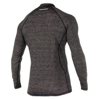 Magic Marine Long Sleeve Cube Rashvest - Men - Black - Back view