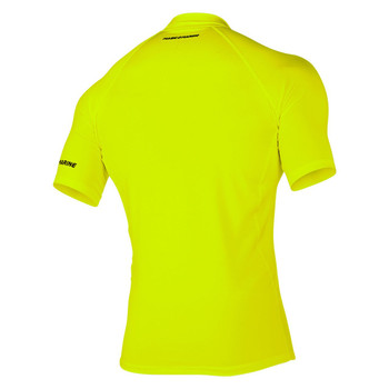 Magic Marine Short Sleeve Cube Rashvest - Flash Yellow - Back view