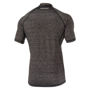 Magic Marine Short Sleeve Cube Rashvest - Men - Black - Back view