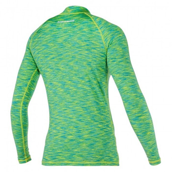 Magic Marine Long Sleeve Cube Rashvest - Women - Green - Back view