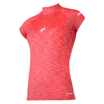 Magic Marine Short Sleeve Cube Rashvest - Women - Pink  - Front view