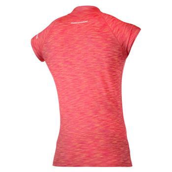 Magic Marine Short Sleeve Cube Rashvest - Women - Pink  - Back view
