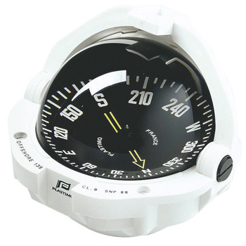 Plastimo Offshore 135 Compass - Flushmount - Black Flat Card - White
