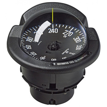 Plastimo Olympic 135 Open Compass - Flushmount or Pedestal - Black Card