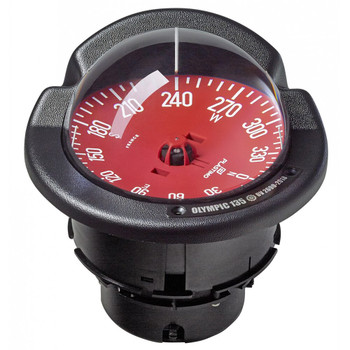 Plastimo Olympic 135 Open Compass - Flushmount or Pedestal - Red Card