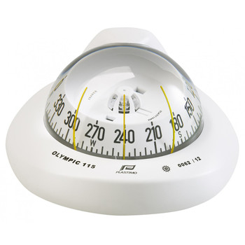Plastimo Olympic 115 Compass - White - Horizontal - White Conical Card