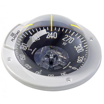 Plastimo Olympic 100 Compass - White - Horizontal - Black Flat Card 64762