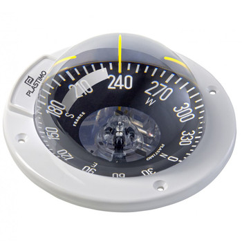 Plastimo Olympic 100 Compass - White - Horizontal - Black Flat Card 64762