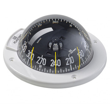 Plastimo Olympic 100 Compass - White - Horizontal - Black Conical Card
