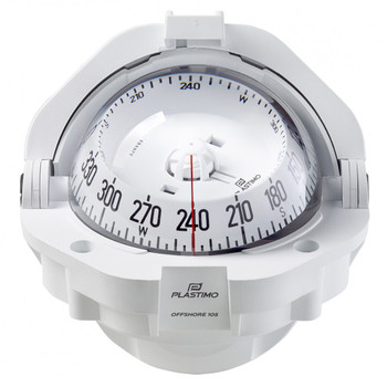 Plastimo Offshore 105 Compass - White - Flushmount - White Conical Card