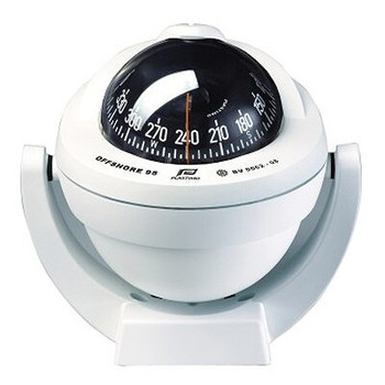Plastimo Offshore 95 Compass - Bracket - Black Conical Card - White