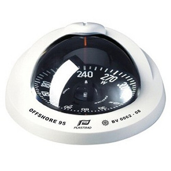 Plastimo Offshore 95 Compass - Flushmount - Black Flat Card  - White