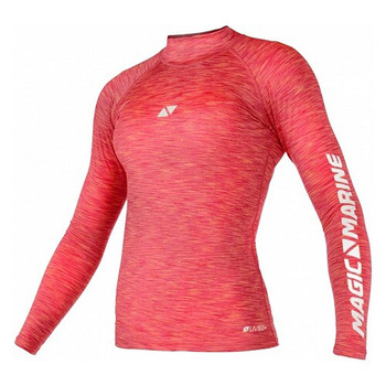 Magic Marine Long Sleeve Cube Rashvest - Women - Pink