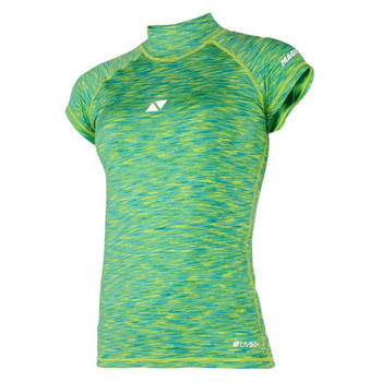 Magic Marine Short Sleeve Cube Rashvest - Women - Green