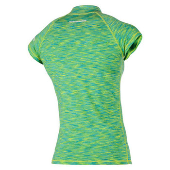 Magic Marine Short Sleeve Cube Rashvest - Women - Green - Back view