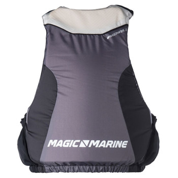 Magic Marine Zipfree Wave Buoyancy Aid - Unisex - Light Grey - Back View