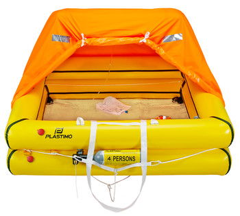 Plastimo Cruiser 4P Standard Liferaft  - Valise Packed