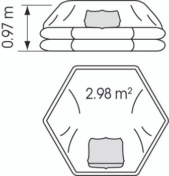Plastimo Liferaft Cruiser 8P Std Canister - illustrated diagram