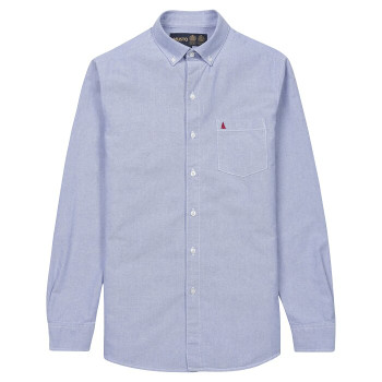 Musto Aiden Long Sleeve Oxford Shirt - Men - Pale Blue