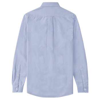 Musto Aiden Long Sleeve Oxford Shirt - Men - Pale Blue - Back View