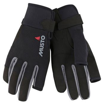 Musto Essential Sailing Long Finger Gloves - Black