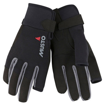 Musto Essential Sailing Long Finger Gloves - Black