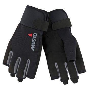 Musto Essential Sailing Short Finger Gloves - Black