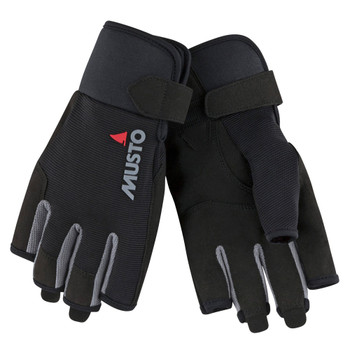 Musto Essential Sailing Short Finger Gloves - Black