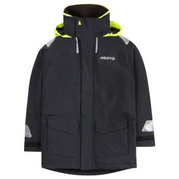 Musto BR1 Coastal Jacket - Junior - Black - Front View