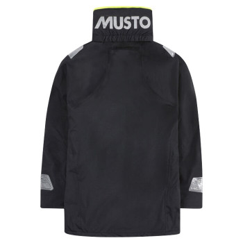Musto BR1 Coastal Jacket - Junior - Black - Back View