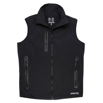 Musto Sardinia BR1 Gilet - Men - Black - Front View
