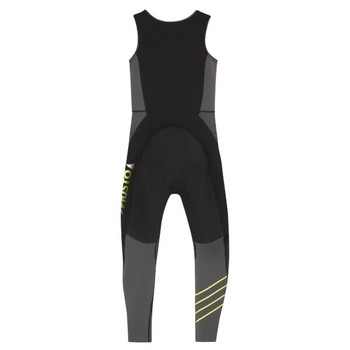 Musto Foiling Thermocool Impact Wetsuit - Men - Dark Grey / Black - Back View