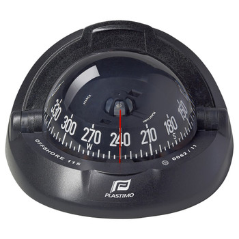 Plastimo Offshore 115 Compass - Black Conical Card  - Black