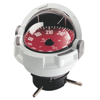 Plastimo Olympic 135 Compass - Flushmount or Pedestal - Red Card  - White