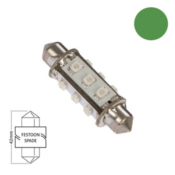 NauticLED Festoon Base LED Green