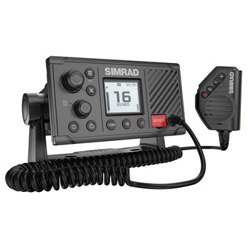 Simrad RS20S VHF Radio - Side angle view